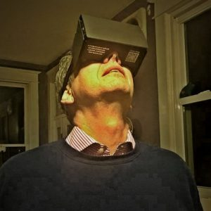 Man viewing VR device
