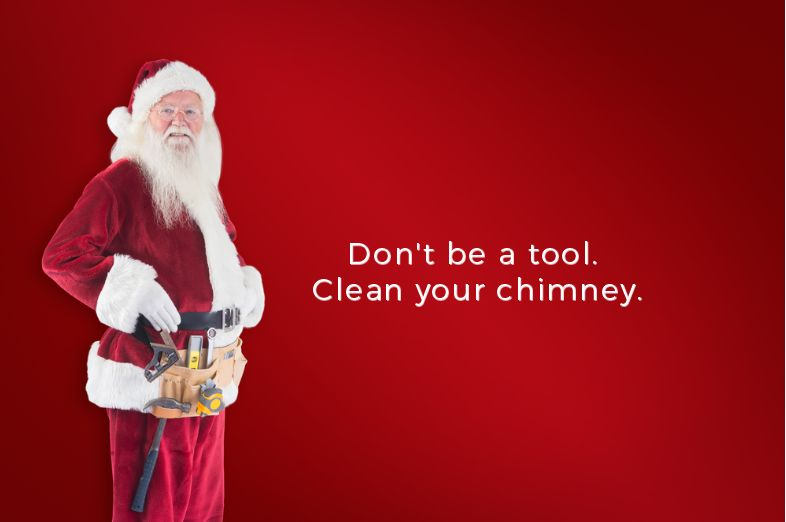 Santa claus tells everyone to clean their chimneys