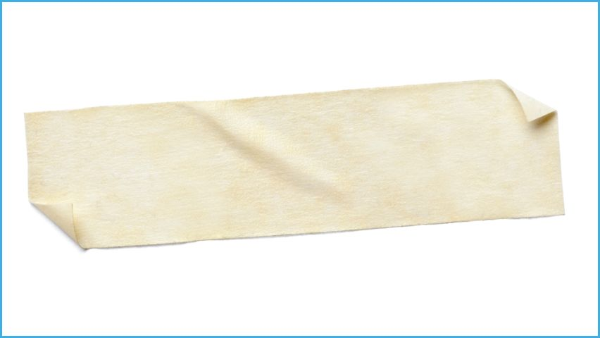 strip of masking tape against white background